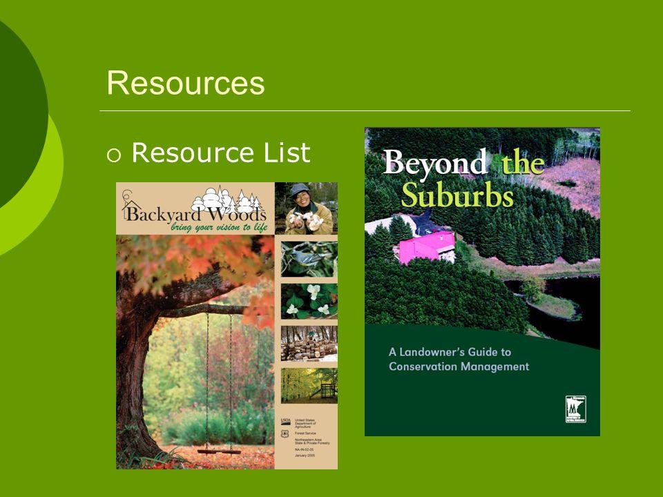 Resources Resource List