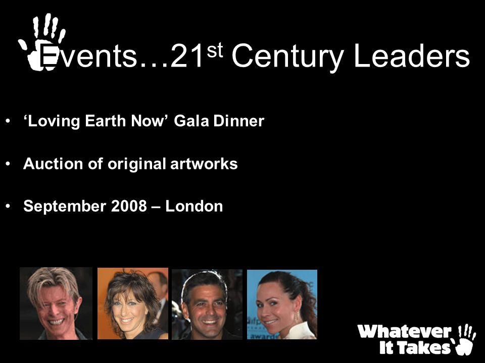 Loving Earth Now Gala Dinner Auction of original artworks September 2008 – London Events…21 st Century Leaders