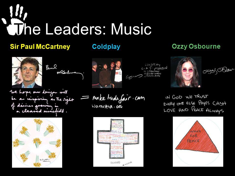 Sir Paul McCartney Ozzy Osbourne Coldplay The Leaders: Music