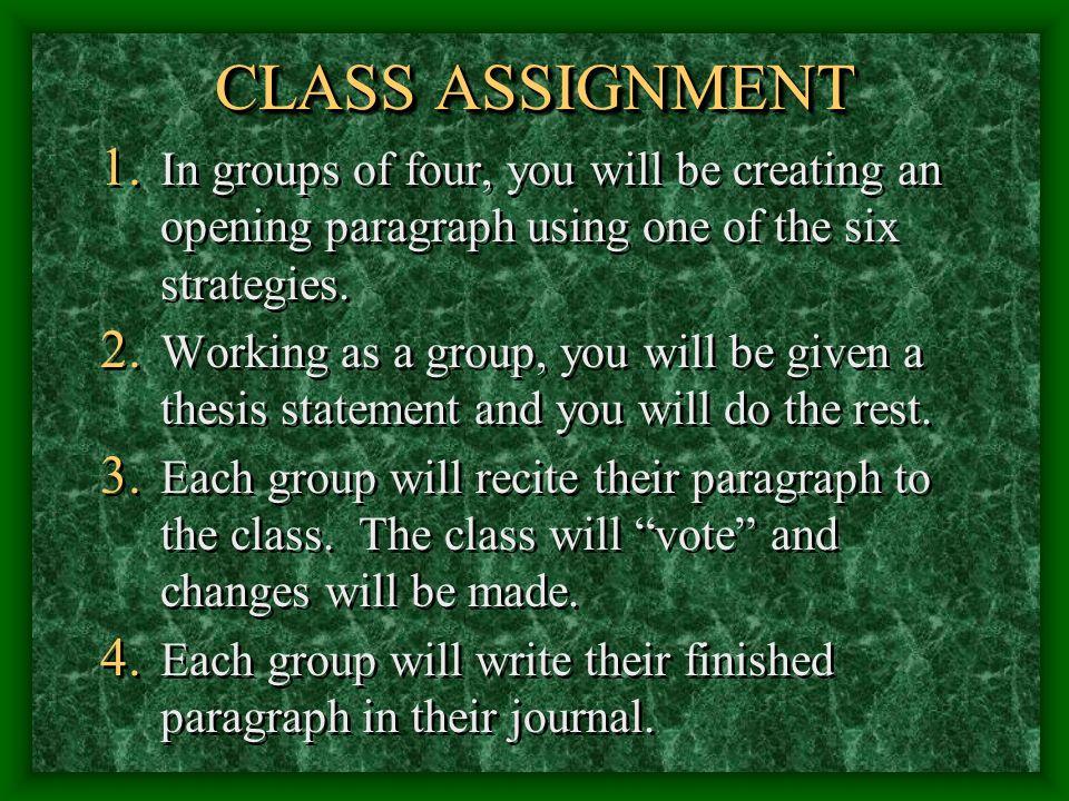 CLASS ASSIGNMENT 1.