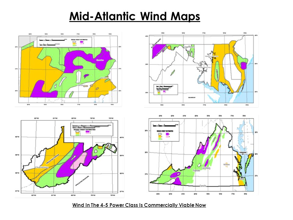 Mid-Atlantic Wind Maps Wind In The 4-5 Power Class Is Commercially Viable Now