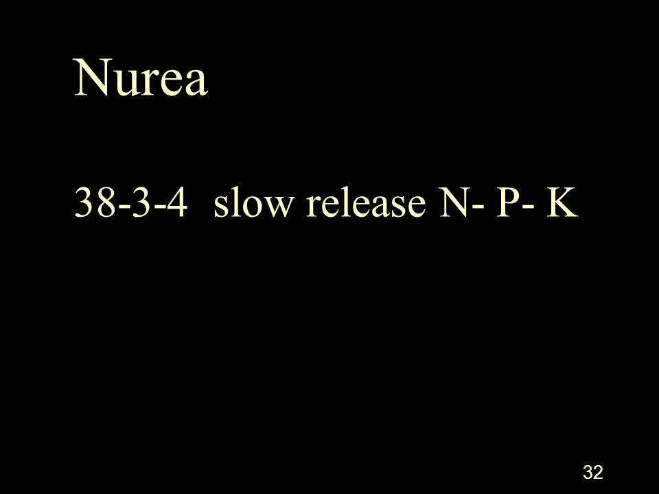 32 Nurea 38-3-4 slow release N- P- K