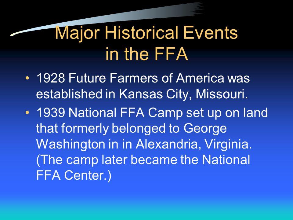 Vocabulary Active Agriculture Education/FFA Alumni Leslie Appelgate Collegiate Eagle Ear of Corn FFA Motto Henry Groseclose Honorary C.