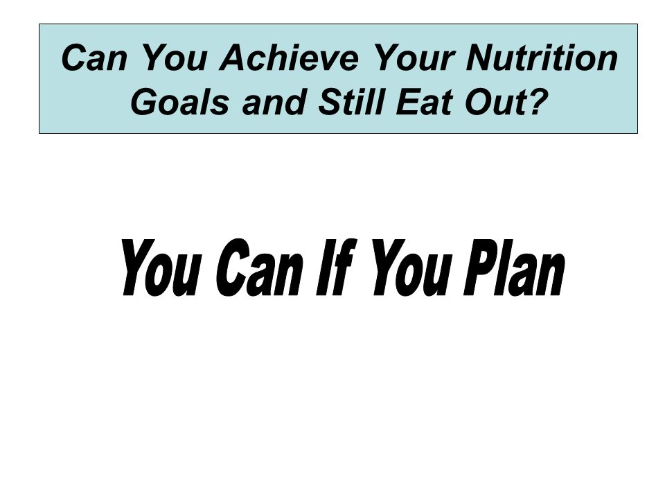 Can You Achieve Your Nutrition Goals and Still Eat Out?