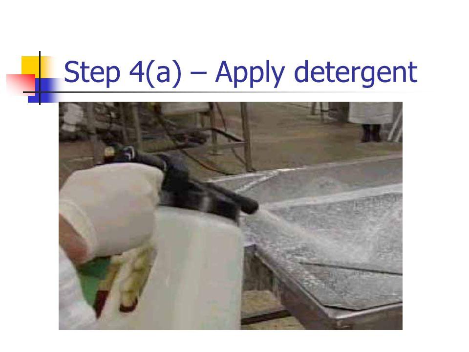 Step 4(a) – Apply detergent