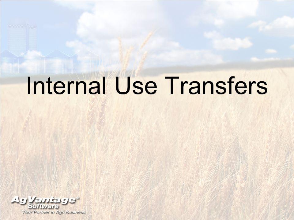 Internal Use Transfers