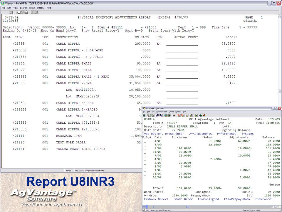 Report U8INR3