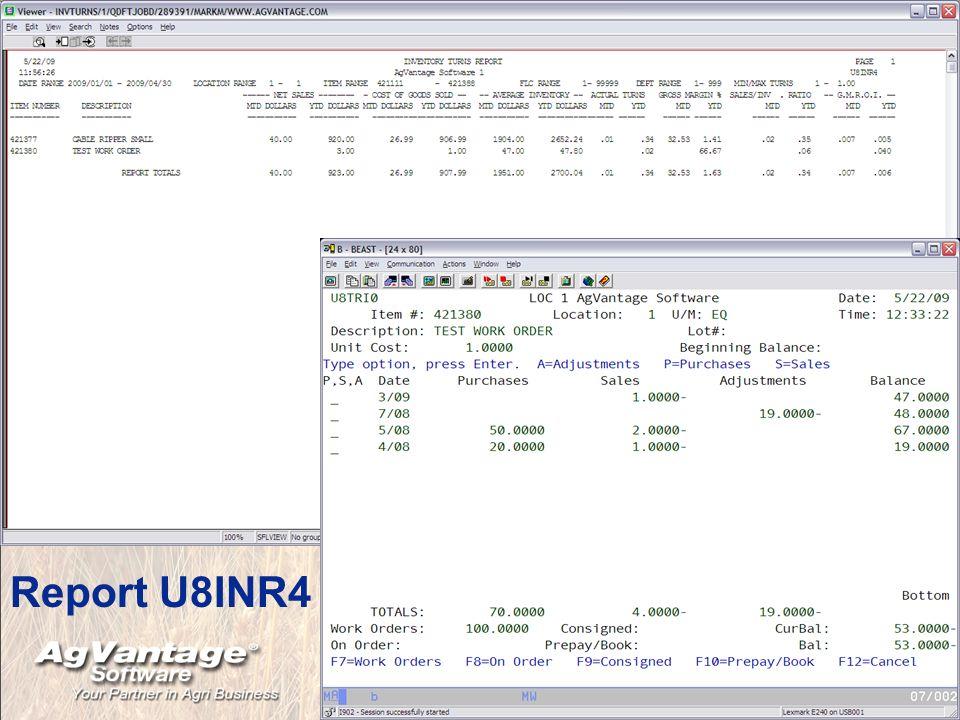 Report U8INR4