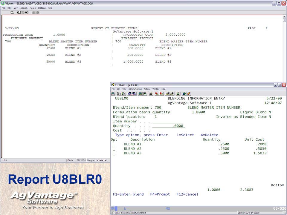 Report U8BLR0
