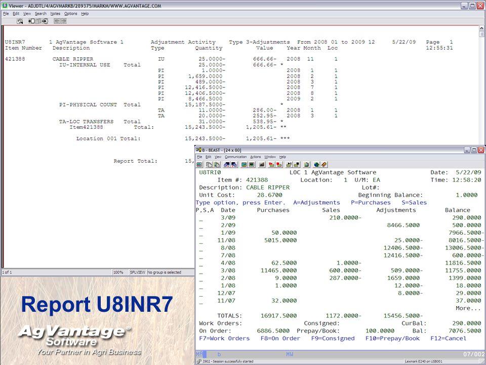 Report U8INR7