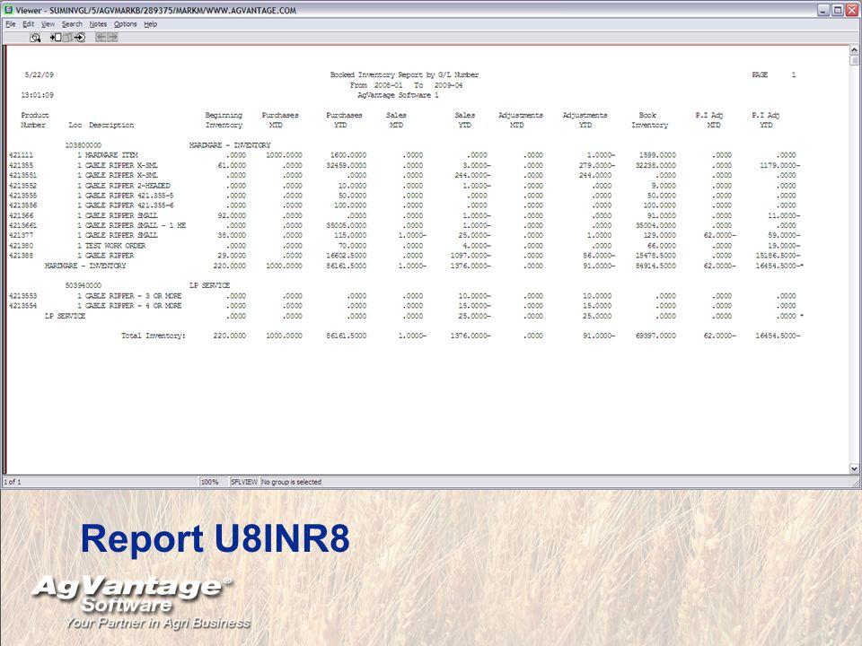 Report U8INR8