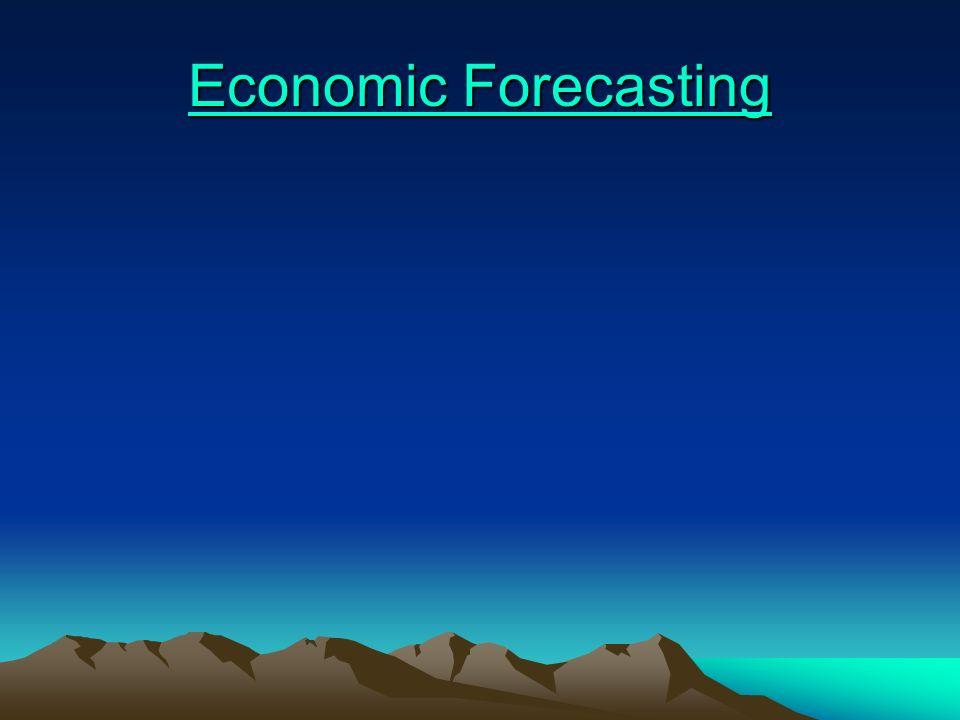 Economic Forecasting Economic Forecasting