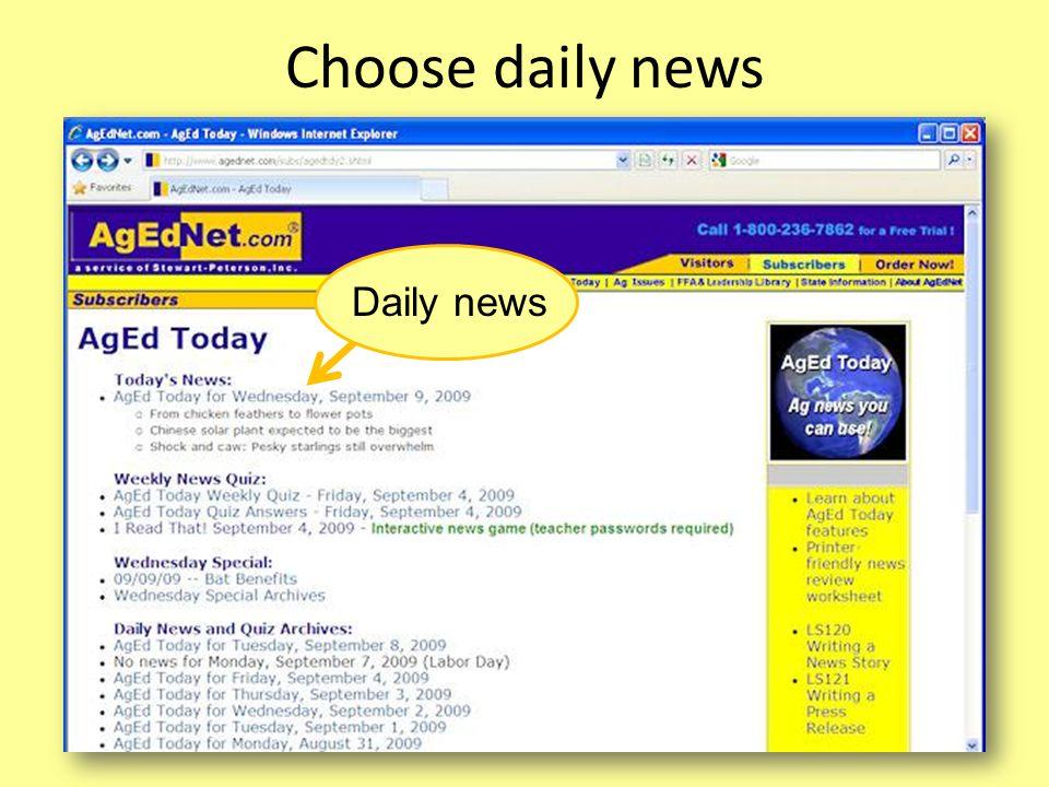 Choose daily news Daily news