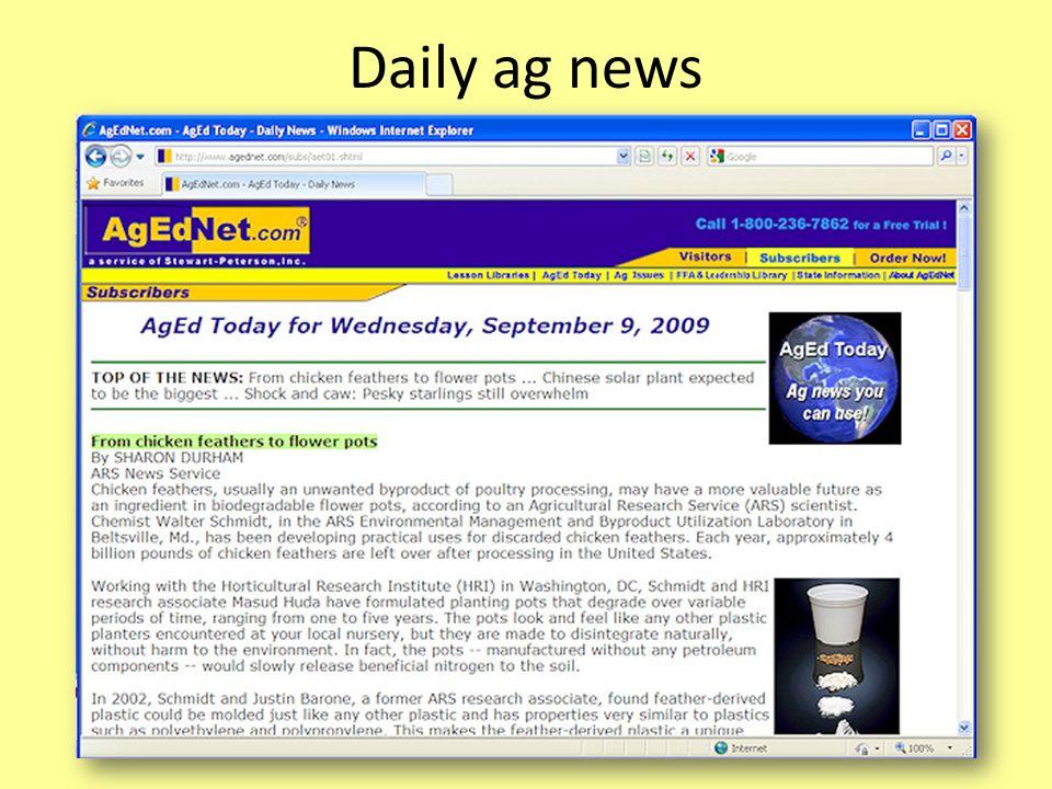 Daily ag news