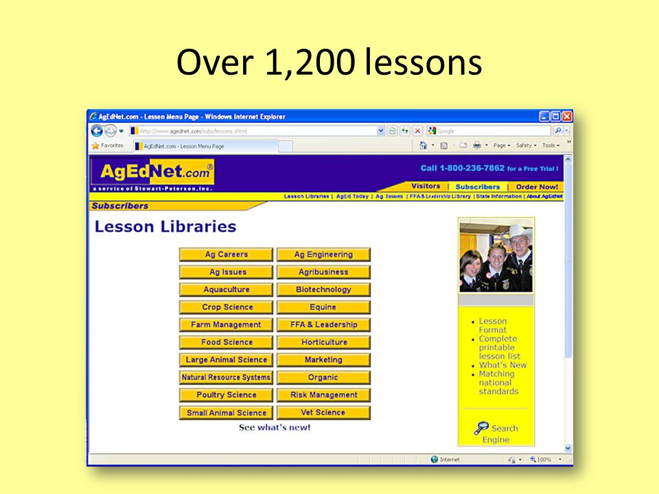 Over 1,200 lessons
