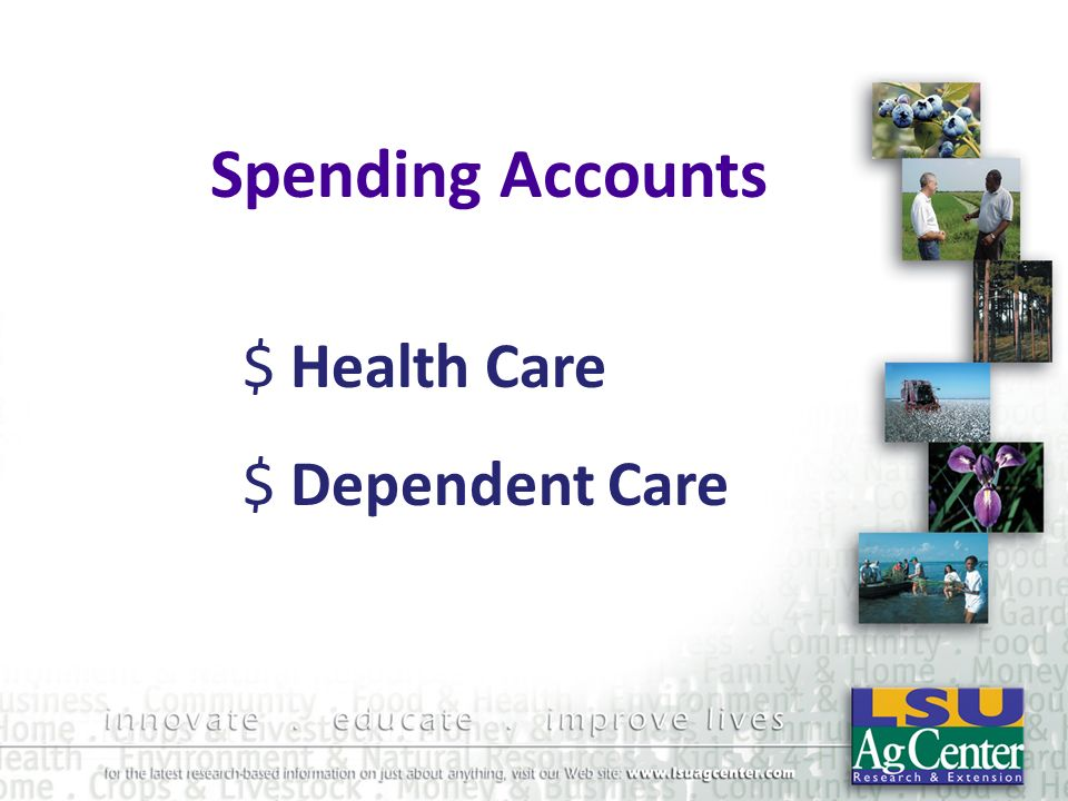Spending Accounts $ Health Care $ Dependent Care