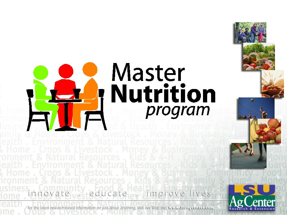 Prepared by Dr. Sally Soileau Nutrition Extension Agent LSU AgCenter Food Safety