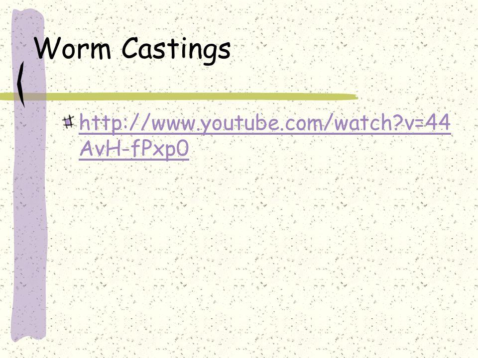 Worm Castings http://www.youtube.com/watch?v=44 AvH-fPxp0