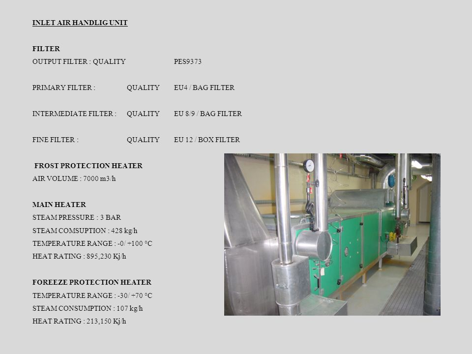 FLUID BED GRANULATION MANUFACTURER : GLATT AG TYPE : WST-CD 120 - BD YEAR 1996 AUTOMAT SIEMENS S5 VOLTAGE SUPPLY : 3 X 400V – 50 Hz POWER : 57.5 kW CA