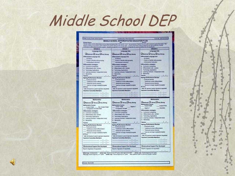 Elementary DEP