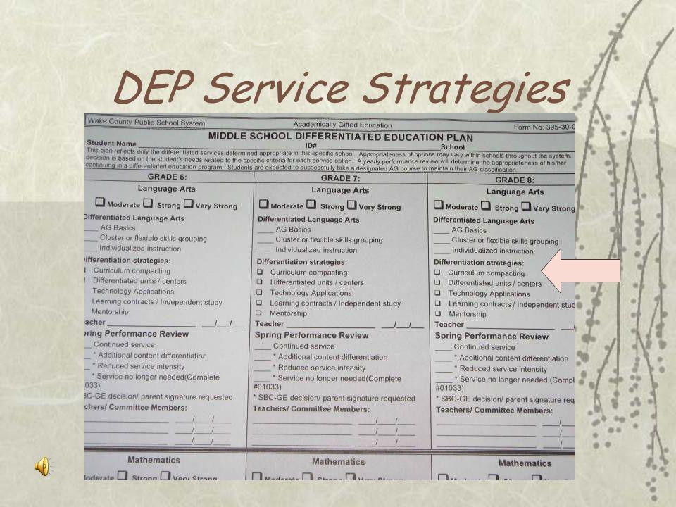 DEP Levels of Service