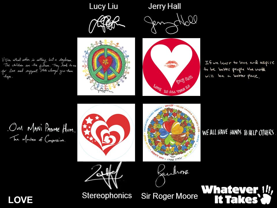 LOVE Lucy LiuJerry Hall Stereophonics Sir Roger Moore