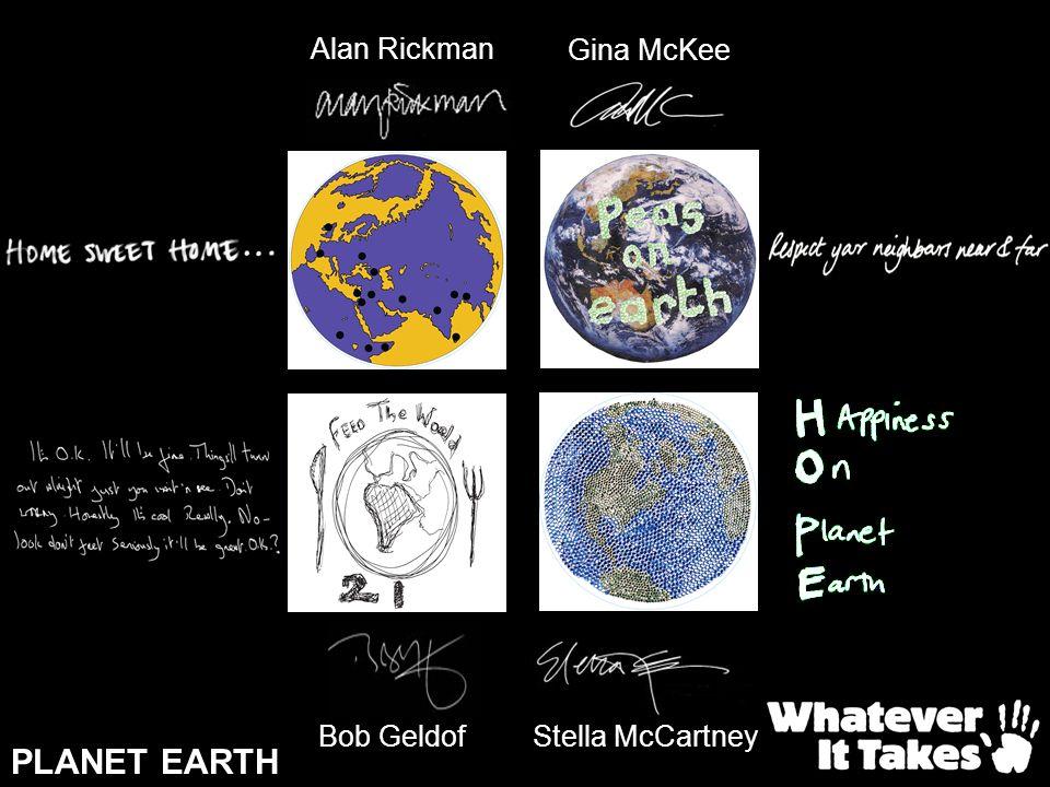 PLANET EARTH Stella McCartney Bob Geldof Alan Rickman Gina McKee