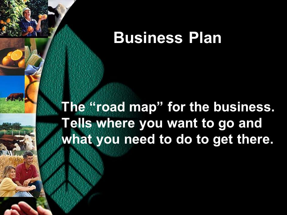 Business Plan The road map for the business.