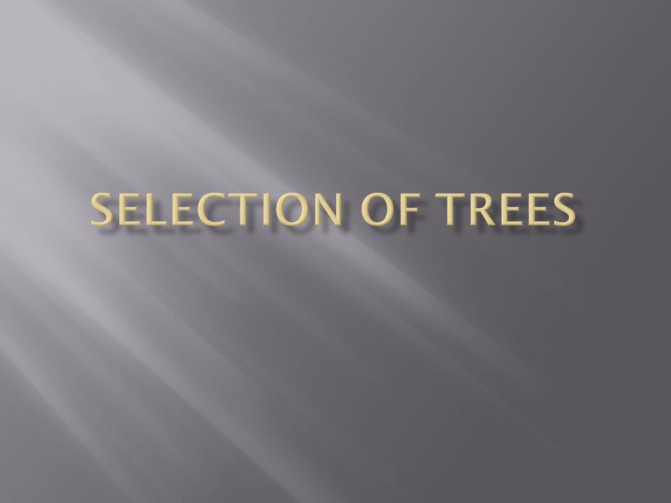 1.List factors that determine how a tree is selected for the landscape.