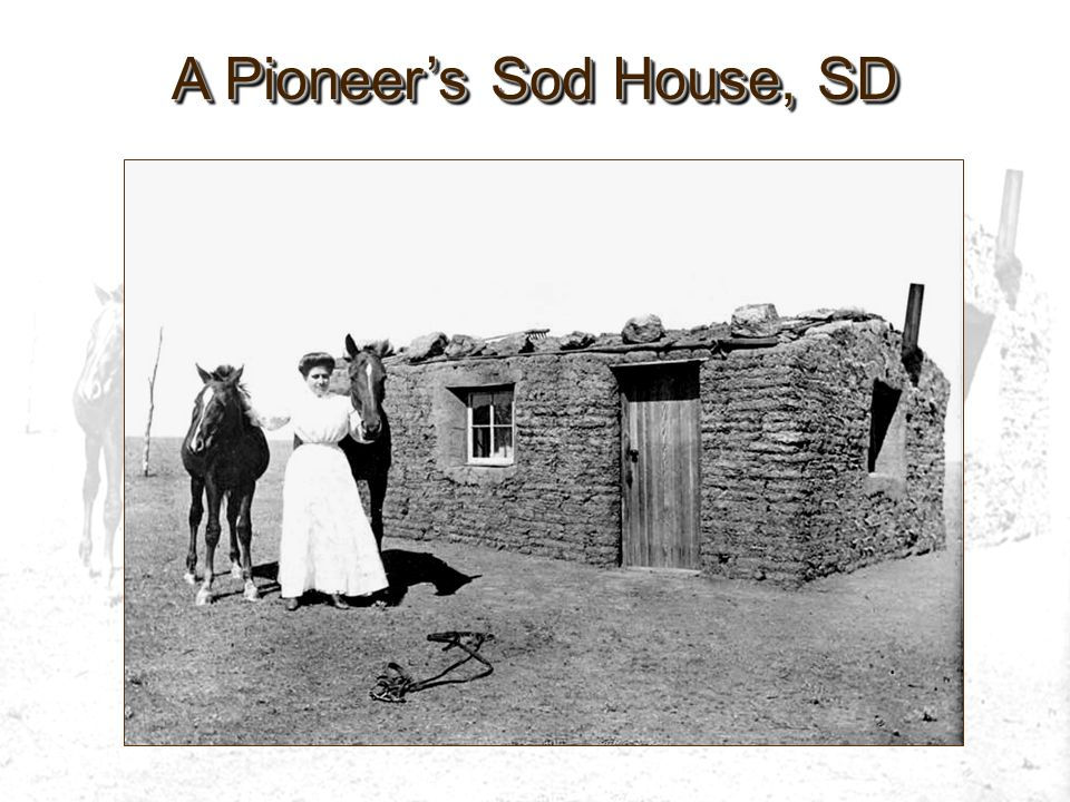 A Pioneers Sod House, SD