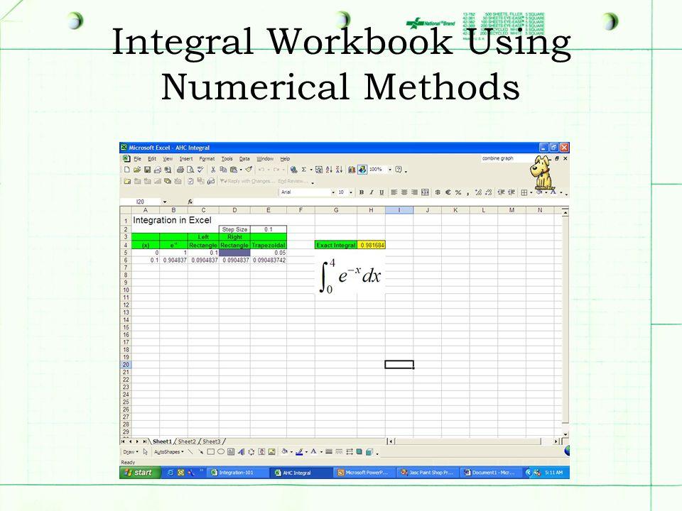 Integral Workbook Using Numerical Methods
