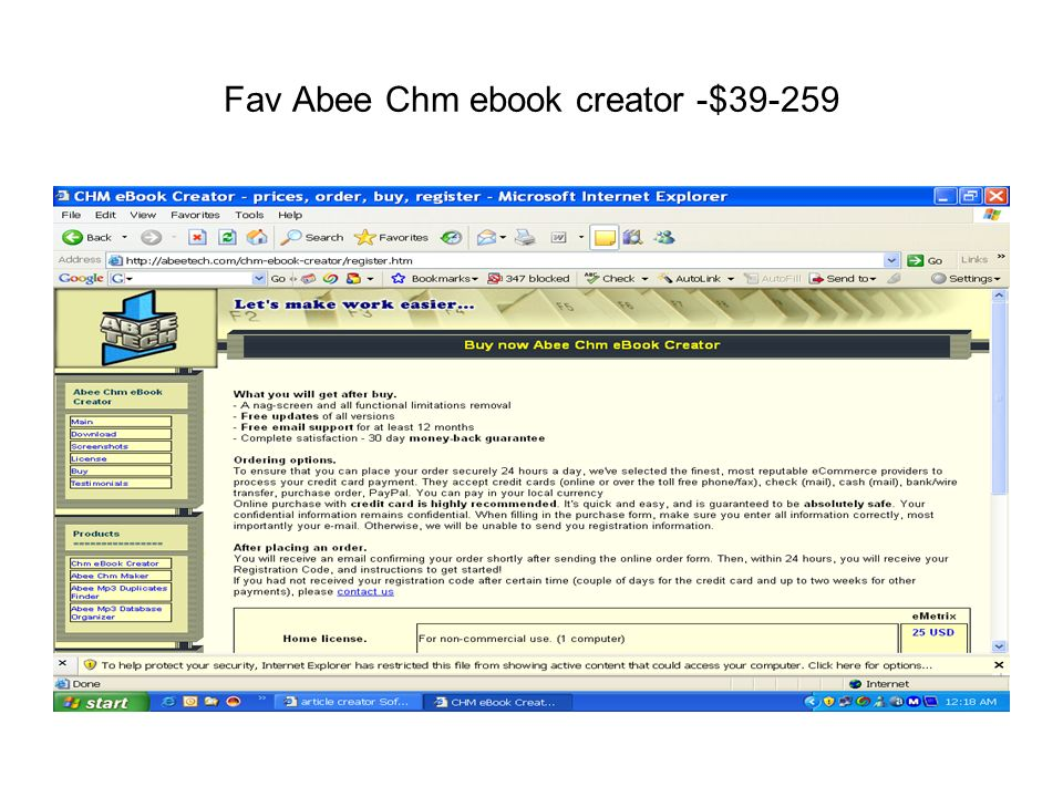 Fav Abee Chm ebook creator -$39-259