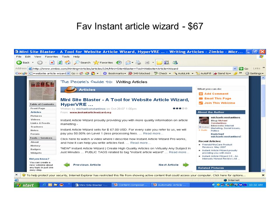 Fav Instant article wizard - $67