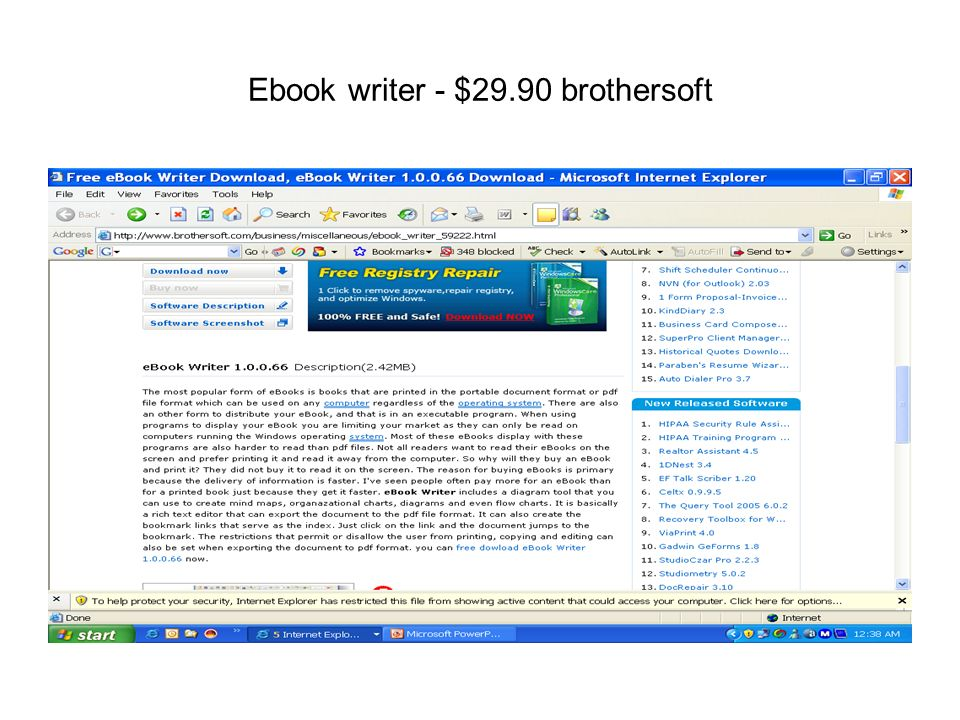 Ebook writer - $29.90 brothersoft
