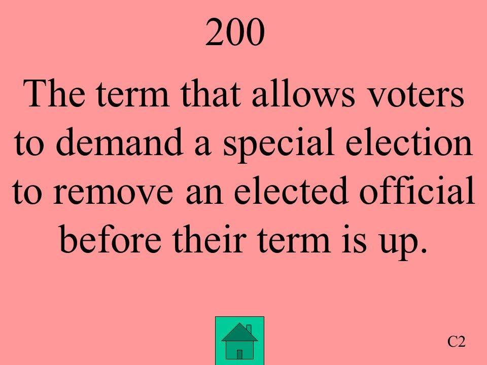 100 The right to vote is called this C1