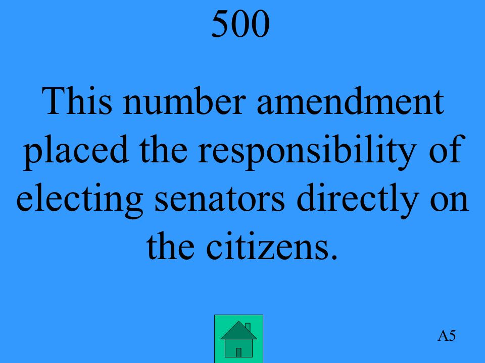 500 This number amendment placed the responsibility of electing senators directly on the citizens.
