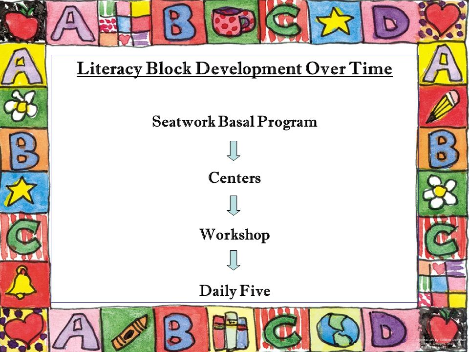 Literacy Block Development Over Time Seatwork Basal Program Centers Workshop Daily Five