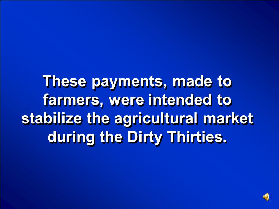 © Mark E. Damon - All Rights Reserved Scores U.S. Government Final Jeopardy Question