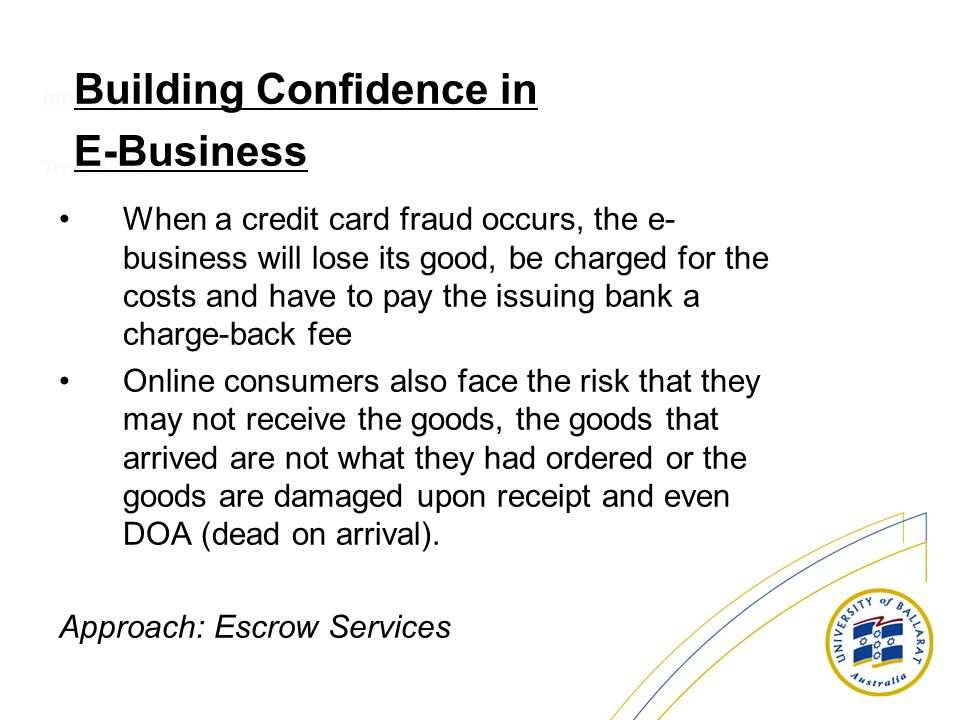 Introduction When a credit card fraud occurs, the e- business will lose its good, be charged for the costs and have to pay the issuing bank a charge-b