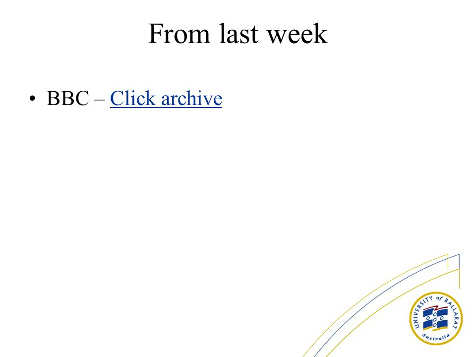 From last week BBC – Click archiveClick archive