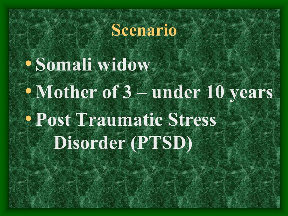 Social Services Crisis Intervention Options (1) Hospitalize client Put children into foster care exacerbates clients PTSD!!