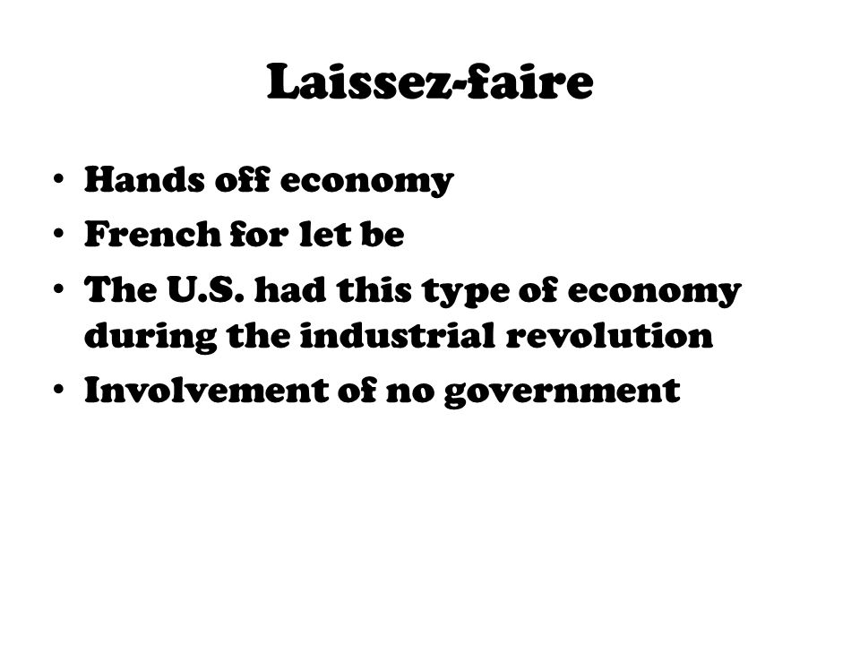 laissez faire and its main violations Laissez faire leadership guide: definition  the economic theory of laissez faire has its basis in the leader's role is limited and the main responsibility.