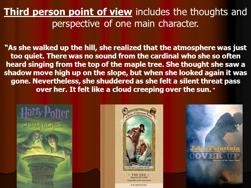 Second person point of view turns the reader into the character.