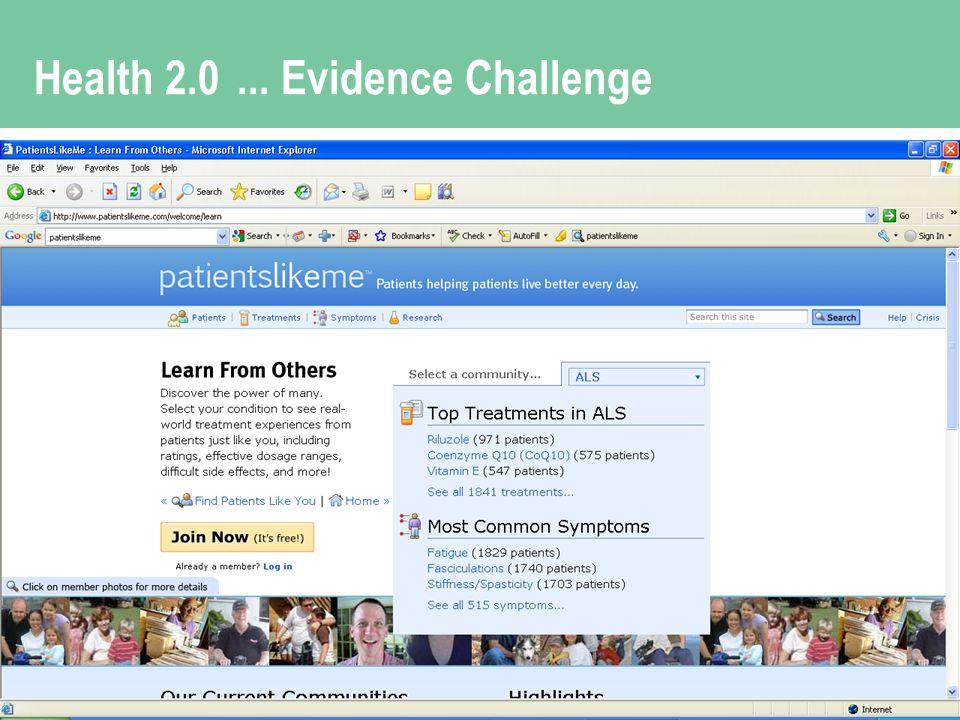 Health 2.0... Evidence Challenge