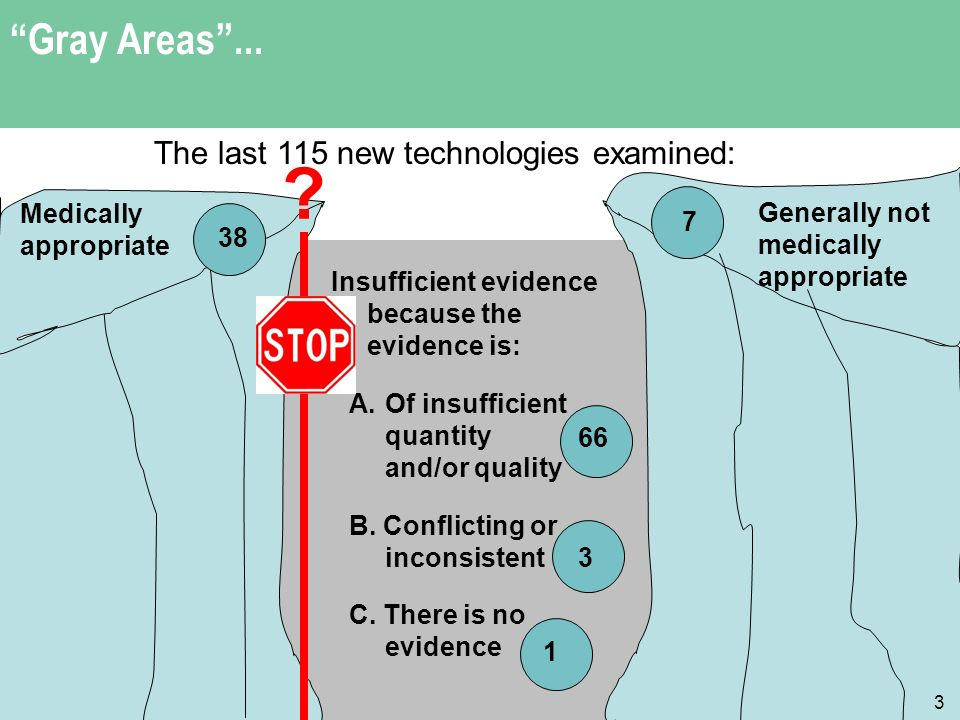 Gray Areas... 3 Insufficient evidence because the evidence is: A.Of insufficient quantity and/or quality B. Conflicting or inconsistent C. There is no