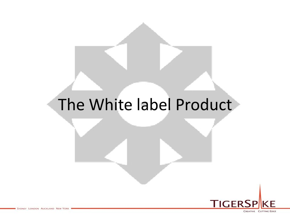 The White label Product