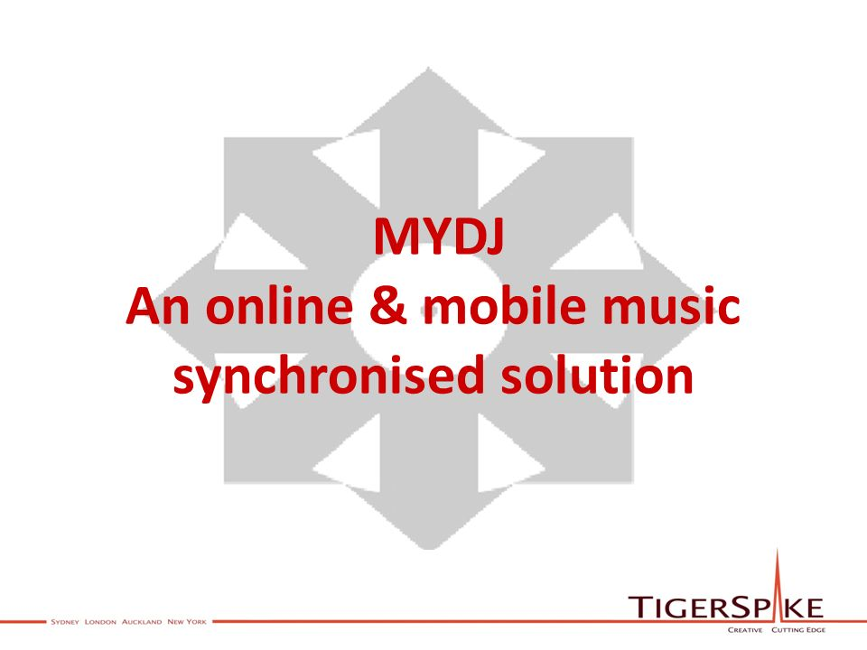 MYDJ An online & mobile music synchronised solution