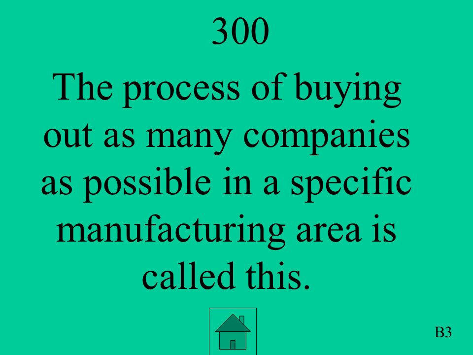 200 The process of performing all operations of production of a product from raw materials to final product is called this.