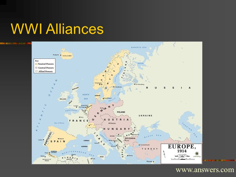 WWI Alliances www.answers.com
