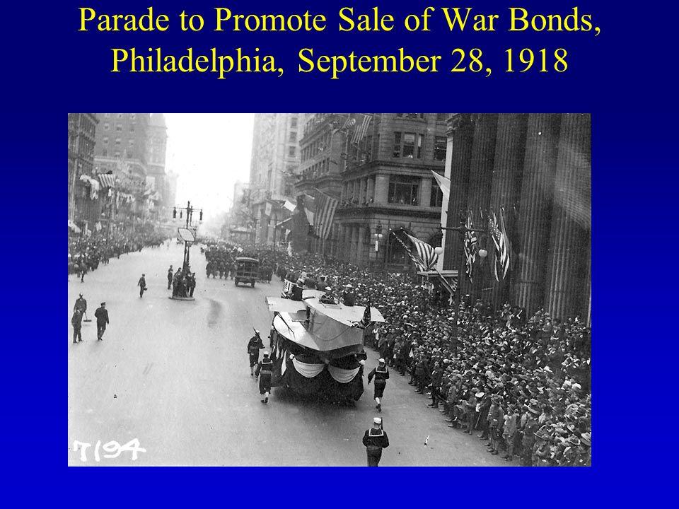 Parade to Promote Sale of War Bonds, Philadelphia, September 28, 1918